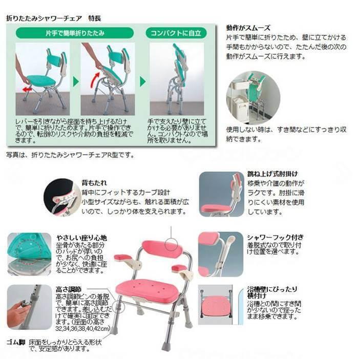 折りたたみシャワーチェア(説明)