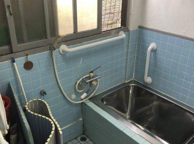 浴室に手すりの取付